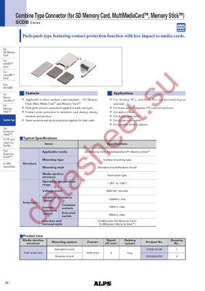 SCDB2A0101 datasheet скачать даташит