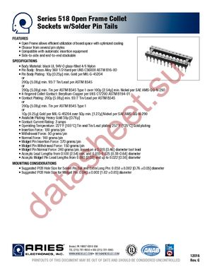 14-3518-10 datasheet скачать даташит