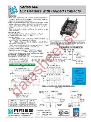 14-600-11 datasheet скачать даташит