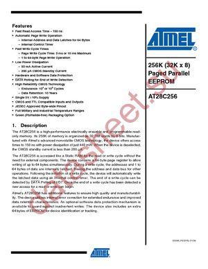 AT28C256E-20UM/883 datasheet скачать даташит