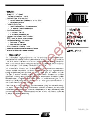 AT28LV010-20JU datasheet скачать даташит