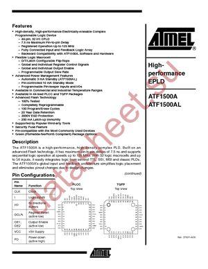 ATF1500AL-20AC datasheet скачать даташит