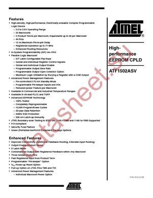 ATF1502ASV-20AI44 datasheet скачать даташит