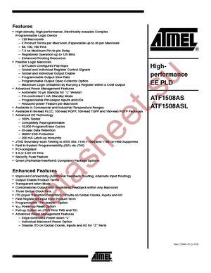 ATF1508AS-10AC100 datasheet скачать даташит