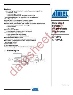 ATF750CL-15JC datasheet скачать даташит
