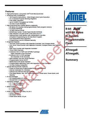 ATMEGA8-16PU даташит Atmel бесплатно скачать