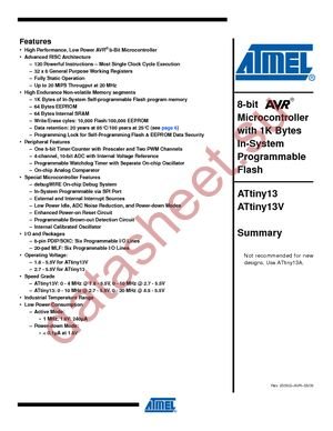Attiny13 datasheet на русском