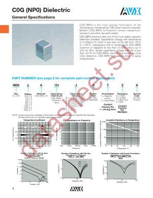 08052A120CAT2A datasheet скачать даташит