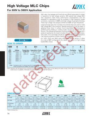 1210CC223KAT1A datasheet скачать даташит