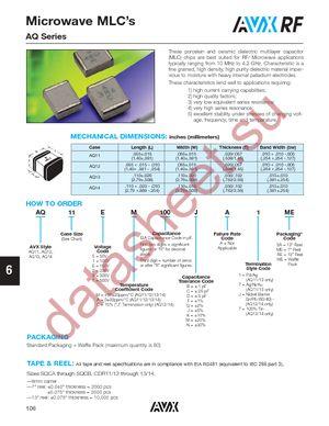 AQ125M1R3CAJME datasheet скачать даташит