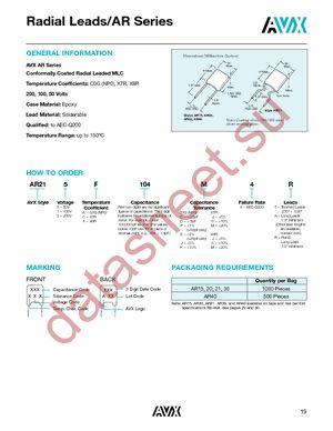 AR211A1R0D4R datasheet скачать даташит