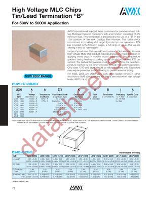 LD125C105KAB2A datasheet скачать даташит
