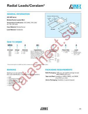 MR061C823JAA datasheet скачать даташит