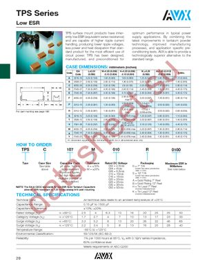 TPSC156K025R0220 datasheet скачать даташит