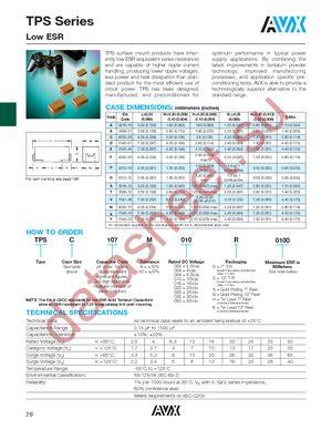TPSC336M016R0300 datasheet скачать даташит