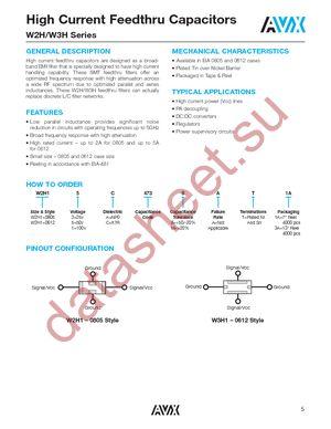 W3H15C4738AT1F datasheet скачать даташит