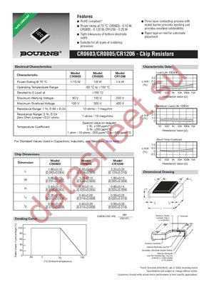 CR0805-FX-3573ELF datasheet скачать даташит