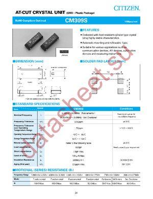 CM309S-12.288MABJ-UT datasheet скачать даташит