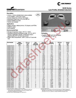 SD3812-151-R datasheet скачать даташит
