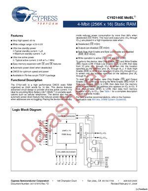 CY62146EV30LL-45ZSXI datasheet скачать даташит