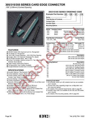305-036-500-202 datasheet скачать даташит