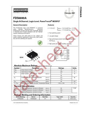 Fds6690a datasheet,datasheets manu page:1==dual notebook power.