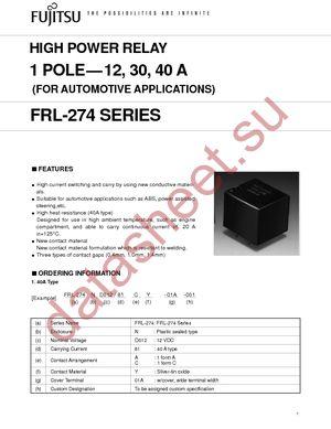 FRL274D012/01CS01A datasheet скачать даташит