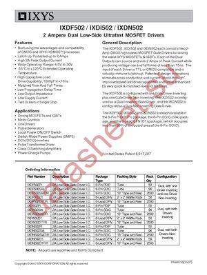 IXDF502SIAT/R datasheet скачать даташит