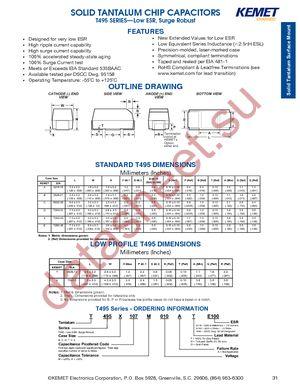 T495D685K050AHE300 datasheet скачать даташит