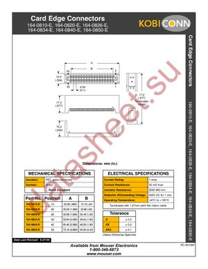 164-0810-E datasheet скачать даташит