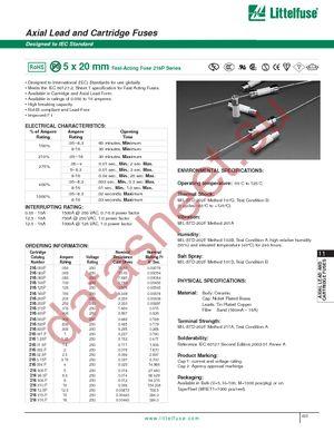 021612.5MXP datasheet скачать даташит