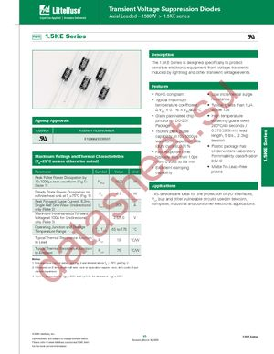 1.5KE220-B datasheet скачать даташит