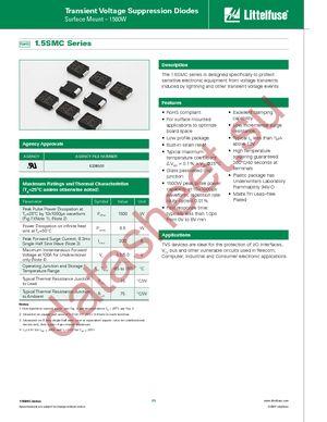 1.5SMC220C datasheet скачать даташит