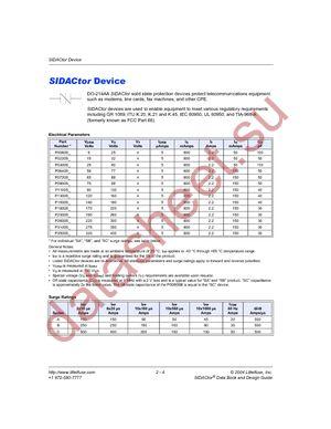 P2600SALRP datasheet скачать даташит