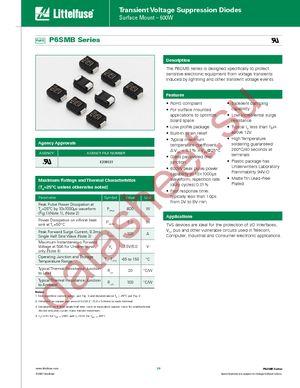 P6SMB100CA datasheet скачать даташит