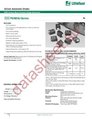 P6SMBJ30A datasheet скачать даташит