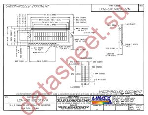 Does the Vo pin on an LCD display require a var resistor
