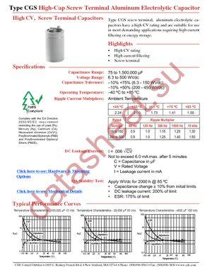 CGS104U025X3L datasheet скачать даташит