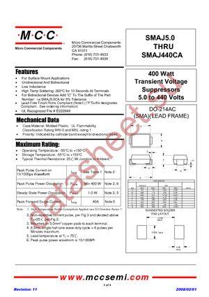 SMAJ6.0A-TP datasheet скачать даташит