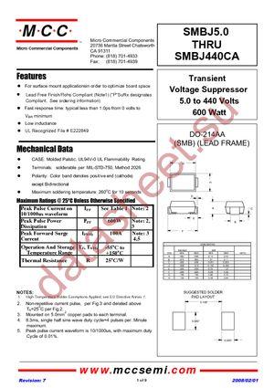 SMBJ12A-TP datasheet скачать даташит