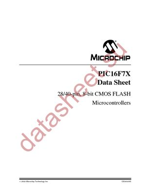 PIC16LF74T-I/PT datasheet скачать даташит