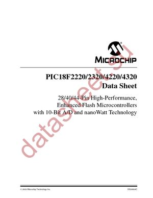 PIC18LF4320T-I/PT datasheet скачать даташит
