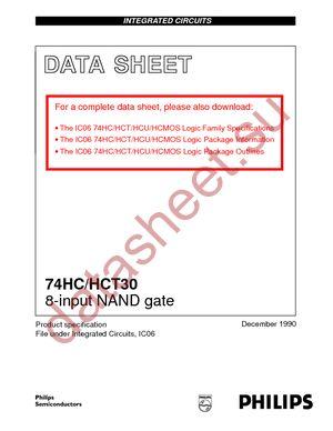 74HCT30D-T datasheet скачать даташит