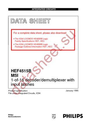 HEF4515BPN datasheet скачать даташит