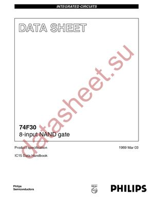 N74F30D datasheet скачать даташит