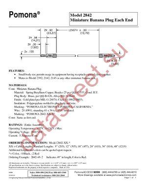 2842-8-0 datasheet скачать даташит