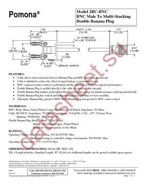 2BC-BNC-60 datasheet скачать даташит