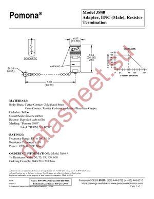 3840-600 datasheet скачать даташит