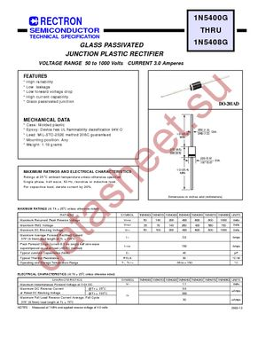 1N5407G-T datasheet скачать даташит