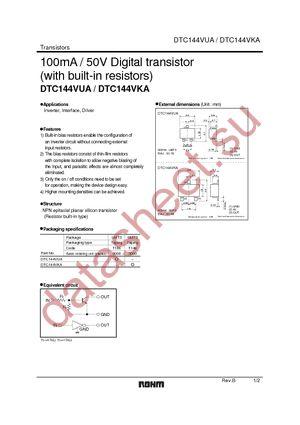 DTC144VUAT106 datasheet скачать даташит